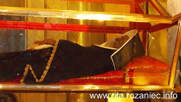 Sarkofag Z Ciałem świętej Rity święta Rita